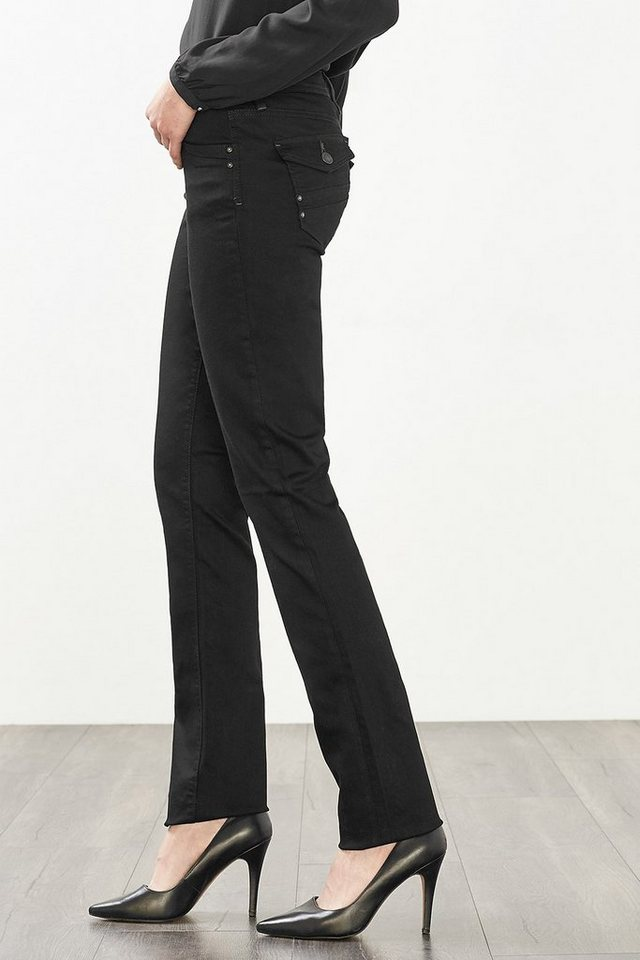 EDC Perfect-Shape Flap-Pocket Jeans in BLACK RINSE