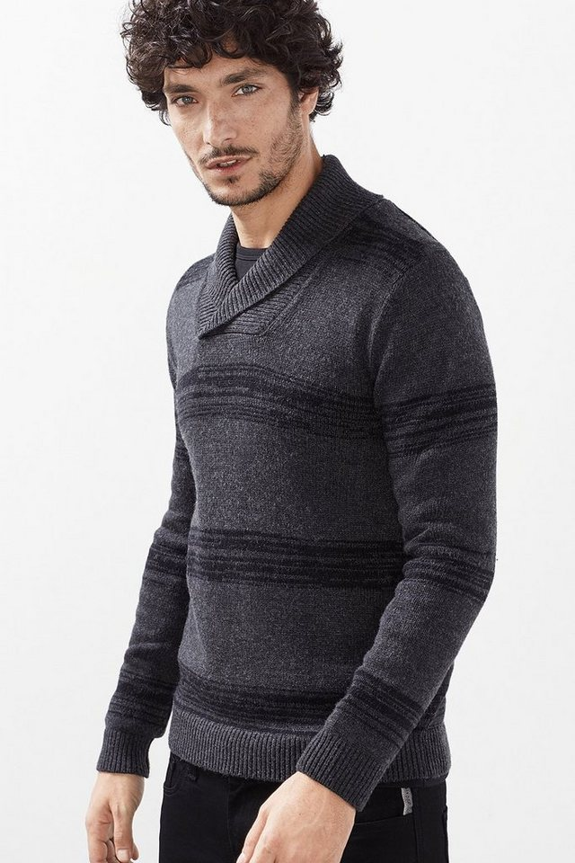 ESPRIT CASUAL Warmer Pulli aus Baumwoll-Mix mit Wolle in ANTHRACITE