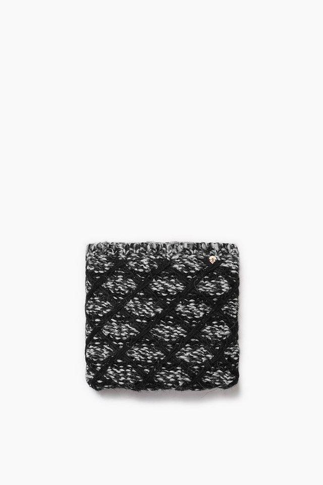 EDC Loop-Schal mit Wolle und Alpaka in BLACK