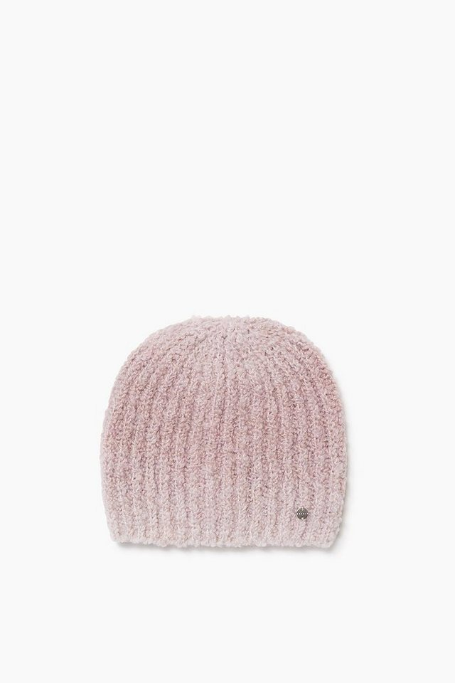 ESPRIT CASUAL Made in Italy: Bouclé Rippmütze aus Wolle in BLUSH