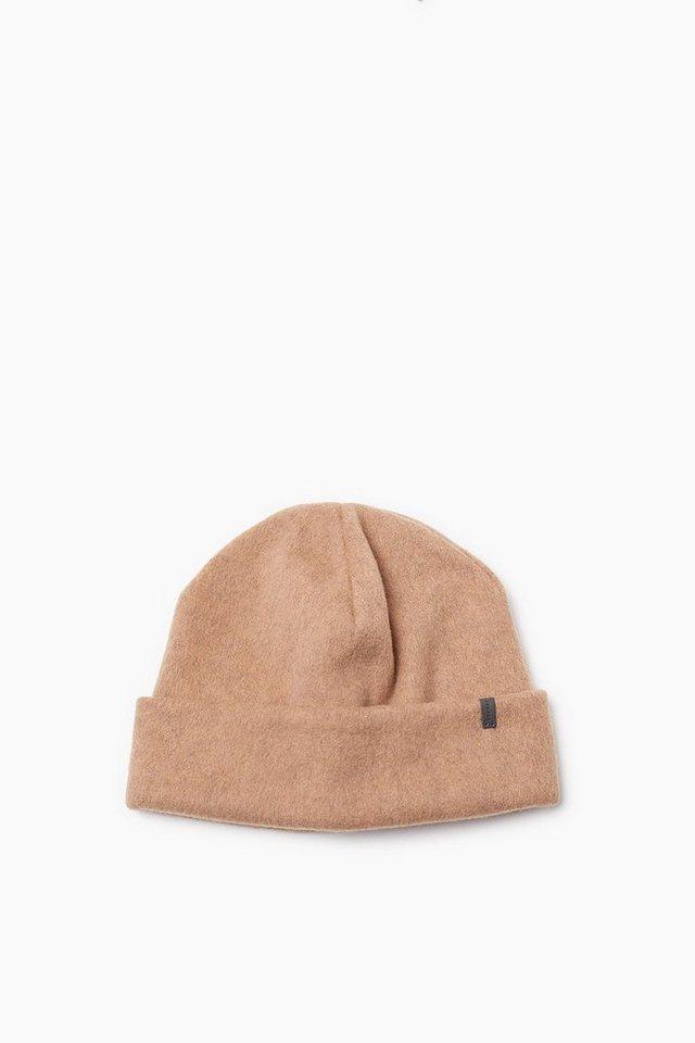 ESPRIT CASUAL Flauschige Mütze aus doppeltem Fleece in CAMEL