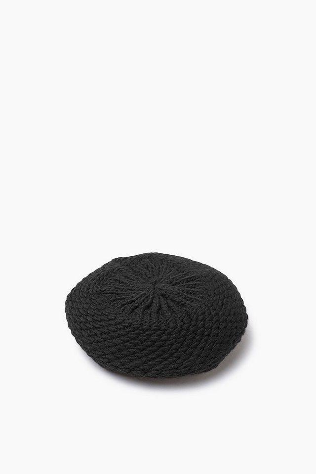 EDC Grobstrick Barett mit Wolle in BLACK