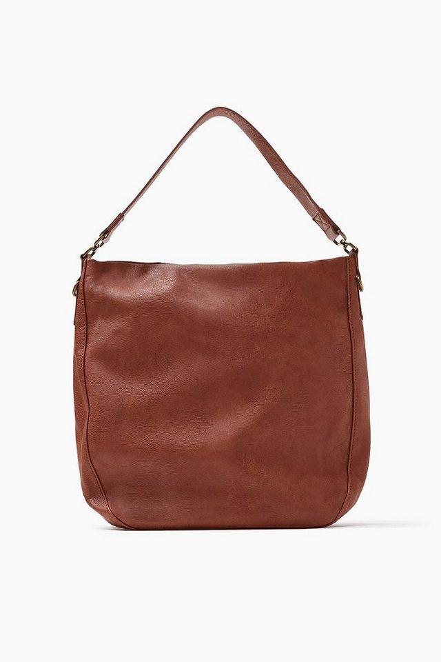 EDC Hobo Bag im Leder-Look in RUST BROWN