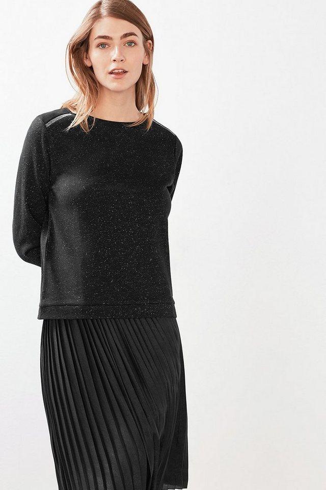 EDC Dekoriertes Sweatshirt mit Lurex in BLACK