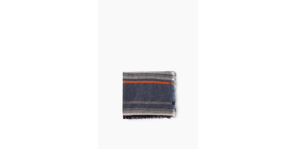 ESPRIT CASUAL Webschal aus Baumwoll-Mix mit Wolle