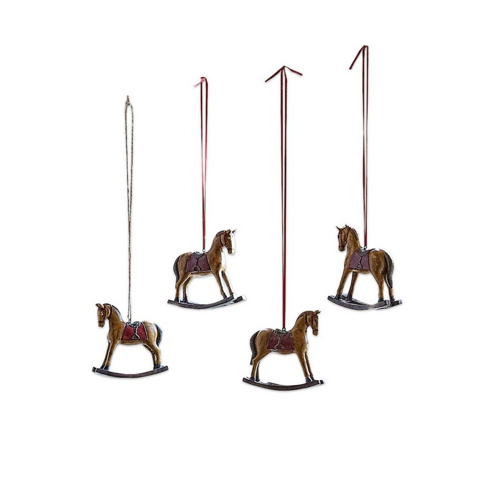 Loberon Deko-Pferde 4er-Set »Cory« in braun