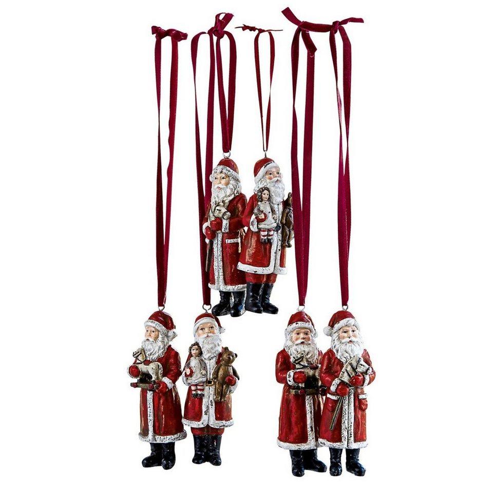 Loberon Weihnachtsmann 6er-Set »Corvin« in rot