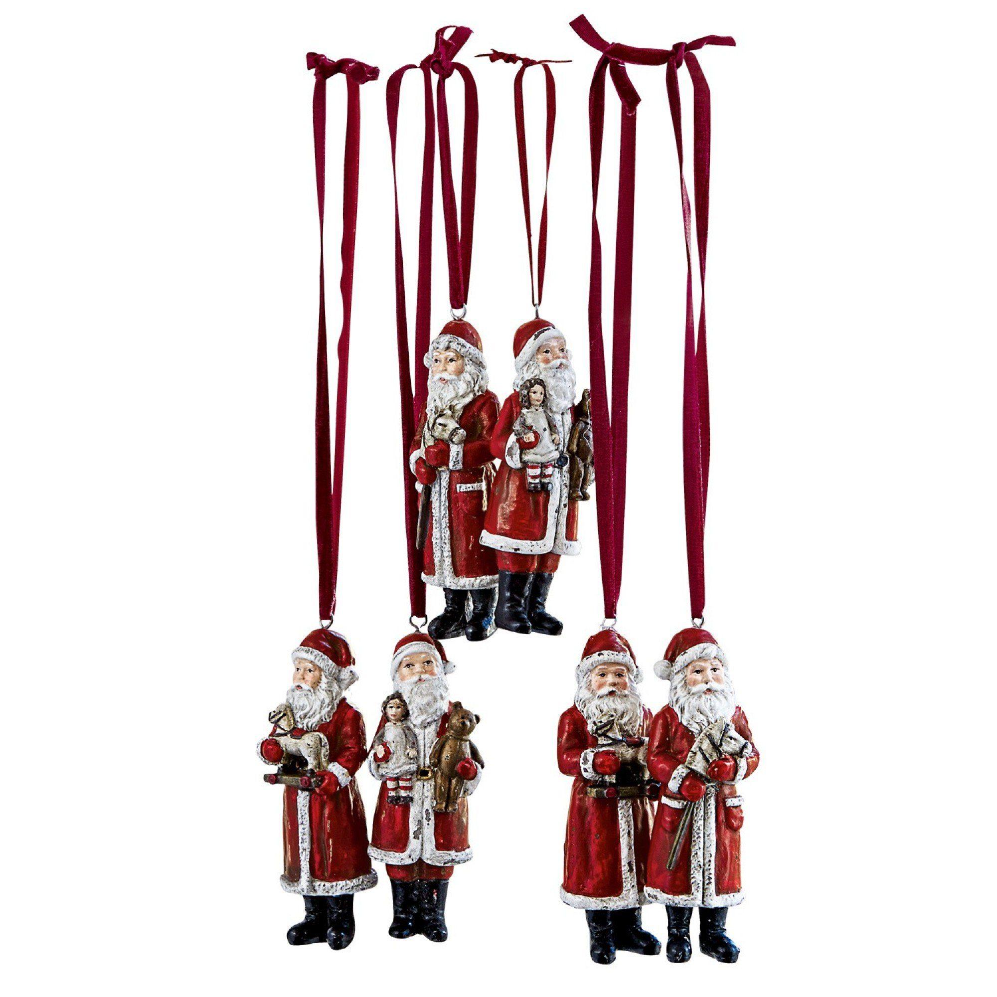 Loberon Weihnachtsmann 6er-Set »Corvin«