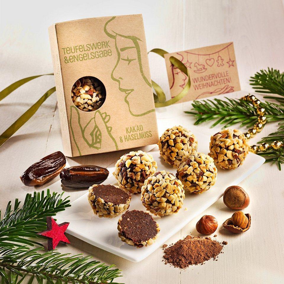 Teufelswerk & Engelsgabe Dattelkonfekt mit Haselnüssen & Kakao Bio, vegan