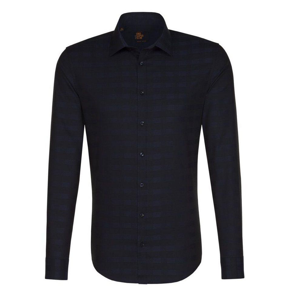 Seidensticker Businesshemd »UNO SUPER SLIM« in dunkelblau