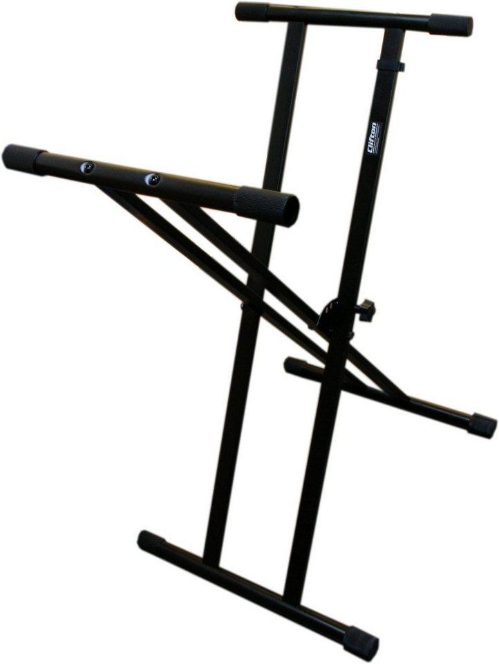 Clifton Keyboardständer, »Keyboardstand double cross« in schwarz
