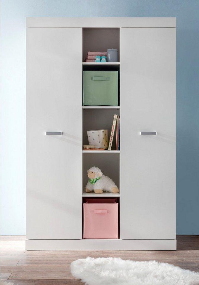 Kleiderschrank passend zur Babymöbel-Serie »Amsterdam« in weiß in weiß