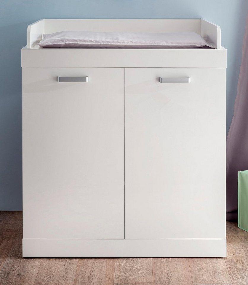 Wickelkommode passend zur Babymöbel-Serie »Amsterdam« in weiß in weiß