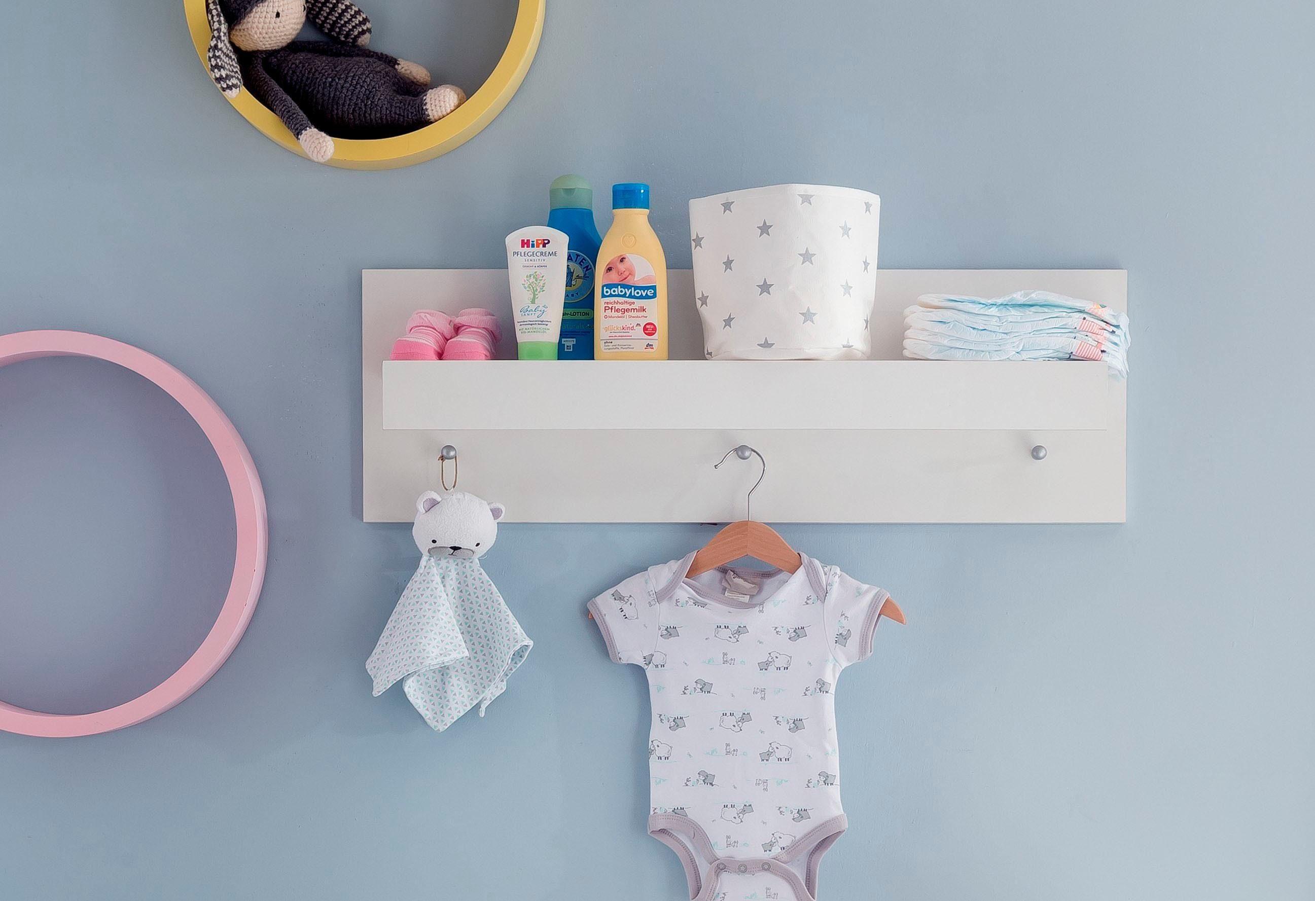 Wandregal / Wandboard passend zur Babymöbel-Serie »Amsterdam« in weiß