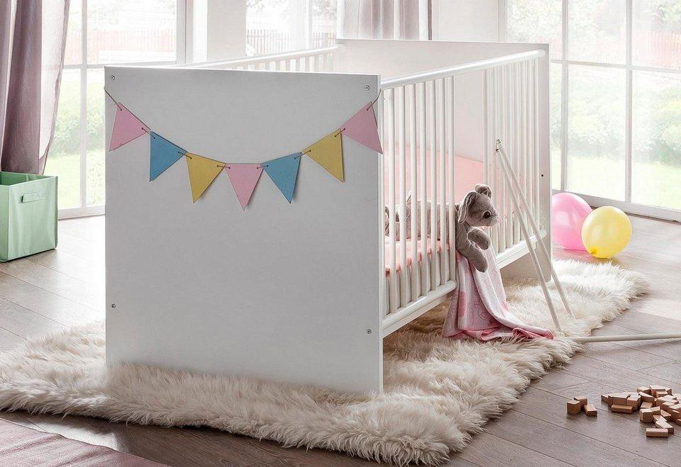 Babybett passend zur Babymöbel-Serie »Amsterdam« in weiß in weiß