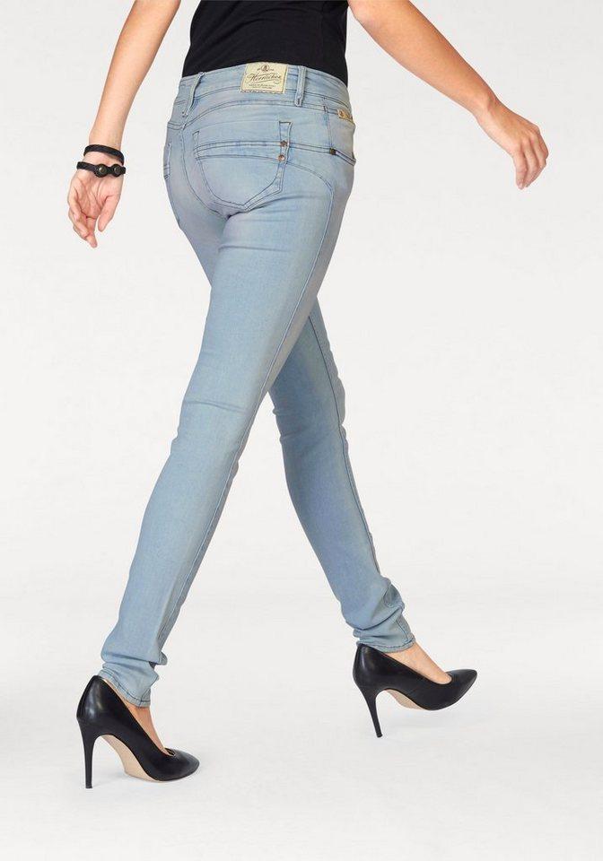 Herrlicher Slim-fit-Jeans »Touch« mit besonderen Ziersteppungen in light-blue