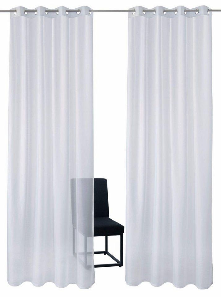 Gardine, GMK Home & Living, »Sollin« Ösen (2 Stück) in weiß