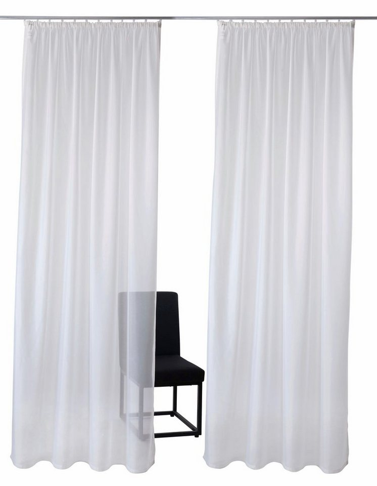 Gardine, GMK Home & Living, »Sollin« Kräuselband (2 Stück) in weiß