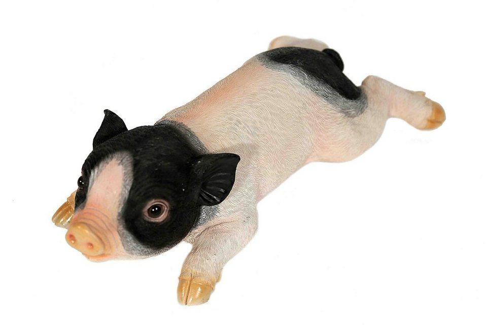 Home affaire Dekofigur »Schwein liegend« in rosa/schwarz