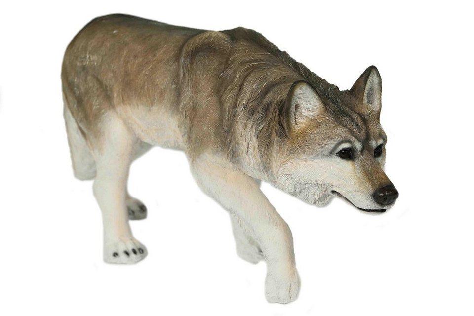 Home affaire Dekofigur »Wolf anschleichend« in grau/weiß