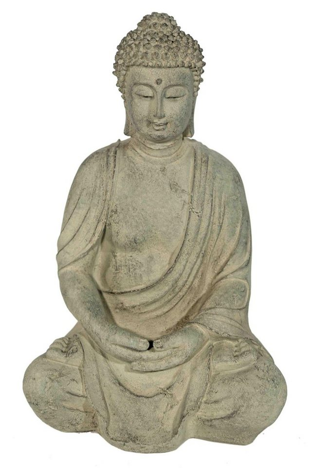 Home affaire Dekofigur »Buddha im Lotussitz« in steingrau