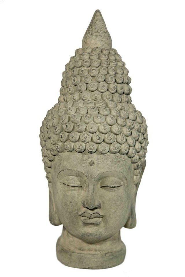 Home affaire Dekofigur »Buddha-Kopf« in steingrau