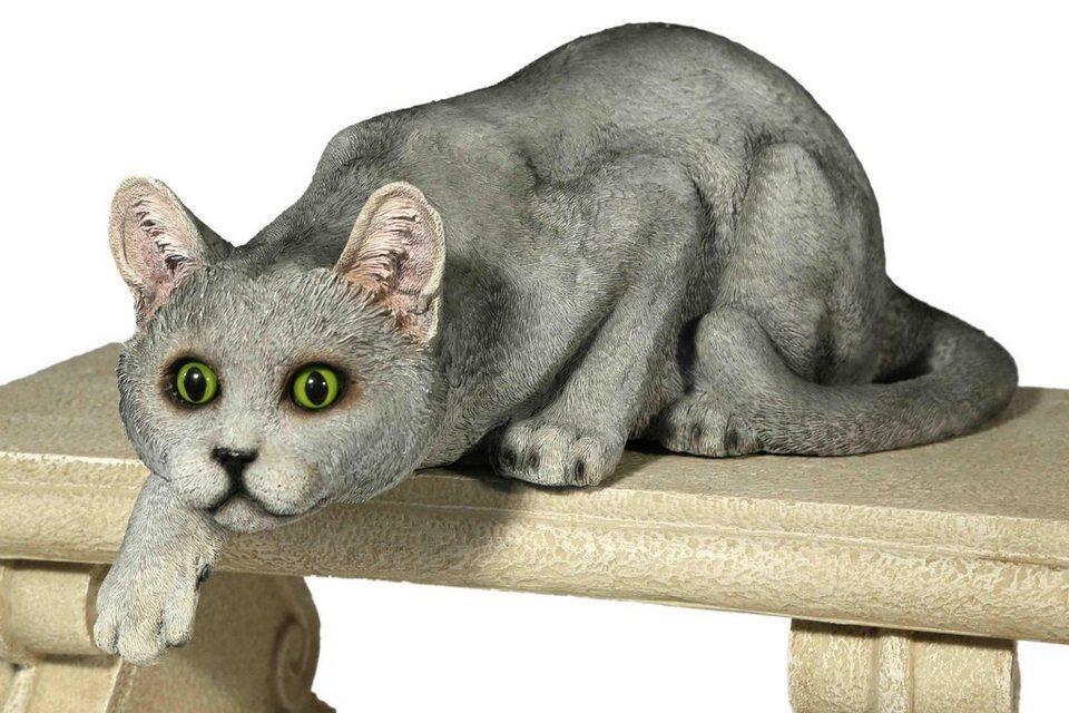 Home affaire Dekofigur »Katze schleichend« in grau