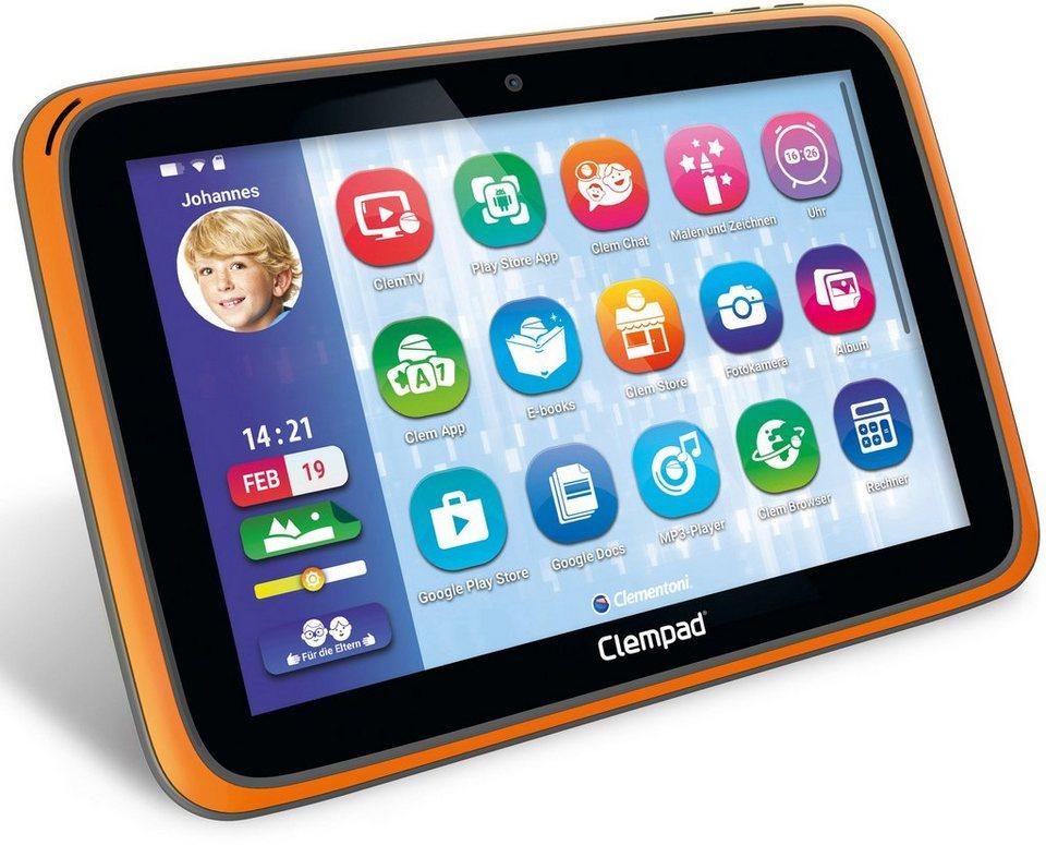 Clementoni Kindertablet mit Hologrammset, Halterung und Hülle, »Clempad 6.0 PRO (16 GB, 10-Zoll)«