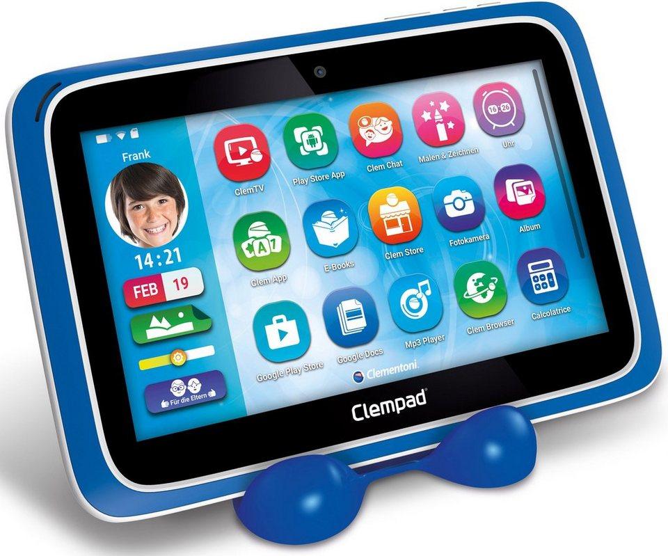 Clementoni Kindertablet mit Hologrammset, Halterung und Hülle, »Clempad XL 6.0 (16 GB, 9-Zoll)«