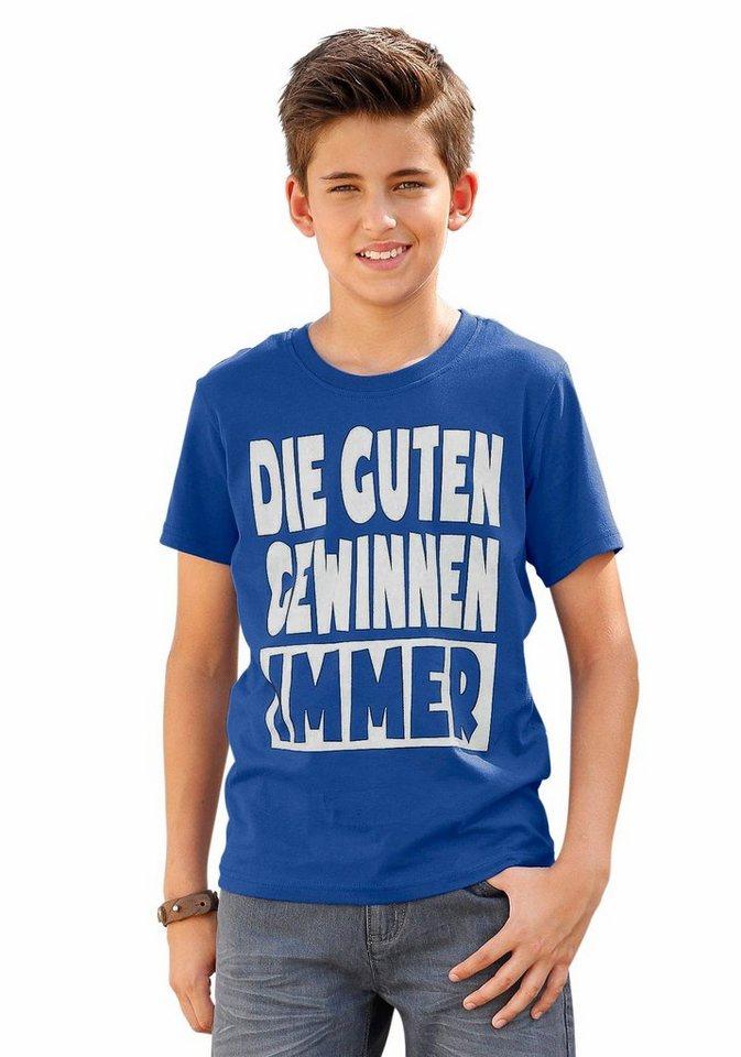 """KIDSWORLD T-Shirt """"DIE GUTEN GEWINNEN IMMER"""" in royalblau"""
