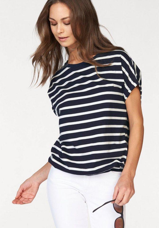 Cross Jeans® T-Shirt Garngefärbter Ringel in marine-weiß