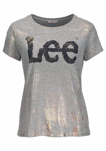 Lee® T-Shirt, mit coolem Glitzer-Logo