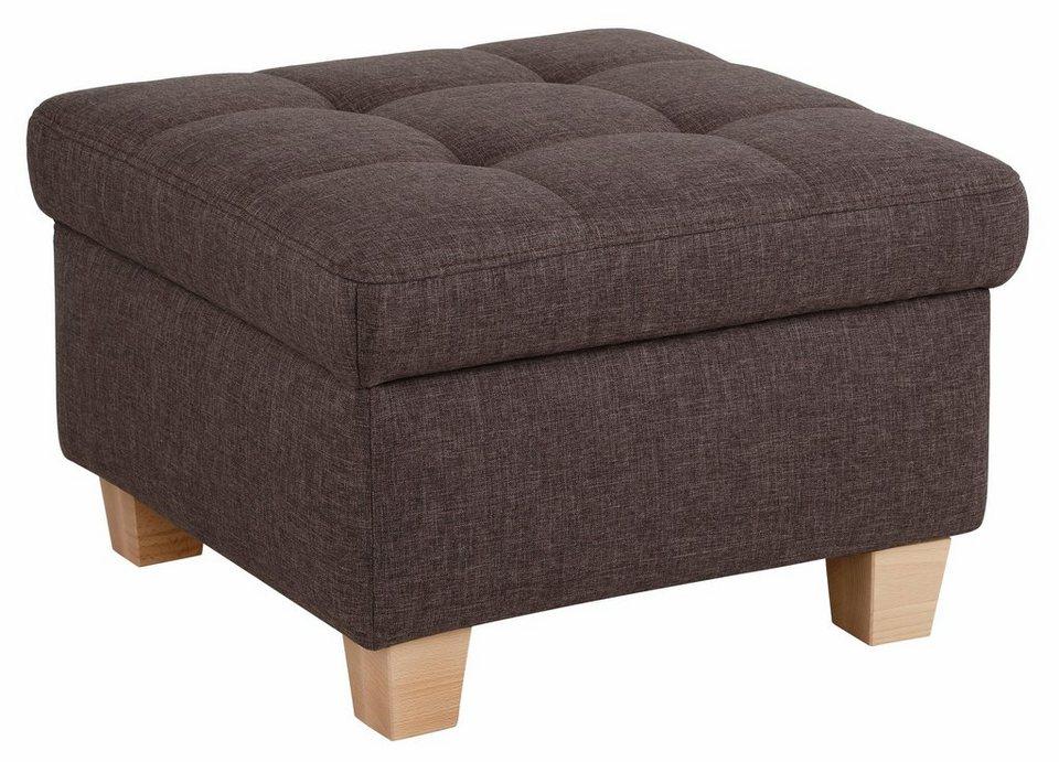 Home affaire Hocker, Steppung auf Sitzfläche in anthrazit