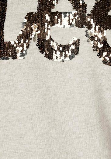 Großer Rabatt Lee® Sweatshirt mit Glitzer-Pailletten-Logo