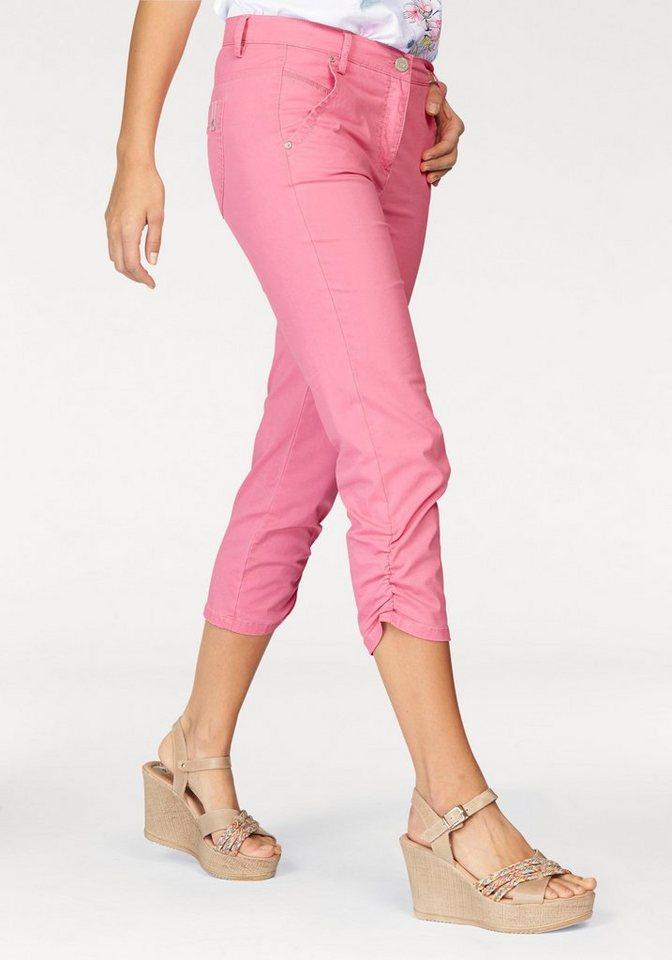 TONI 3/4-Hose »CS - Ria Trend 3/4« Raffung an Seitennaht am Saum, ca. 13cm lang in pink