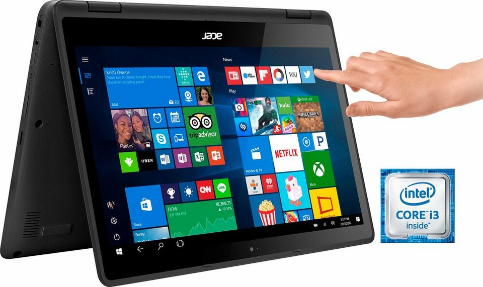 Acer SP513-51-3466 Convertible Notebook, Intel® Core™ i3, 33,8 cm (13,3 Zoll), 128 GB Speicher in schwarz