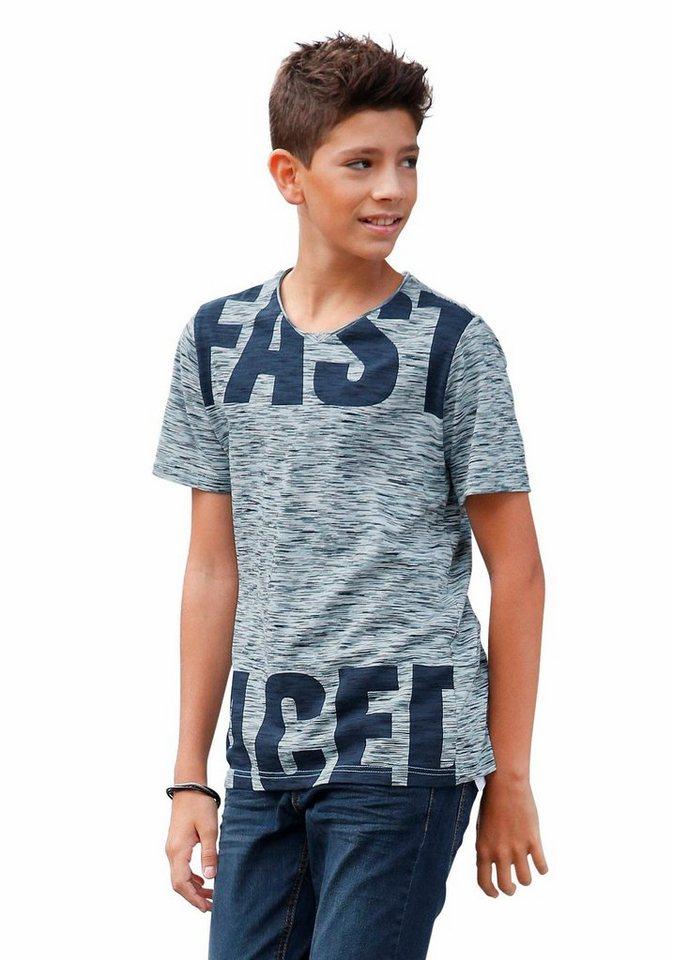 s.Oliver RED LABEL Junior T-Shirt in grob melierter Optik in türkis-meliert