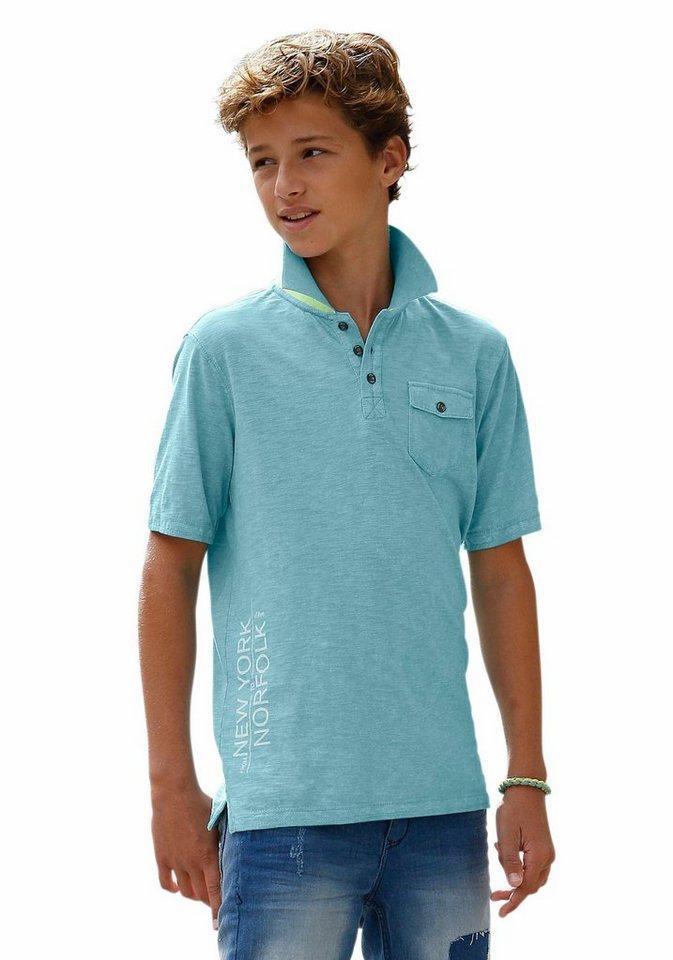 s.Oliver RED LABEL Junior Poloshirt in leicht melierter Optik in türkis