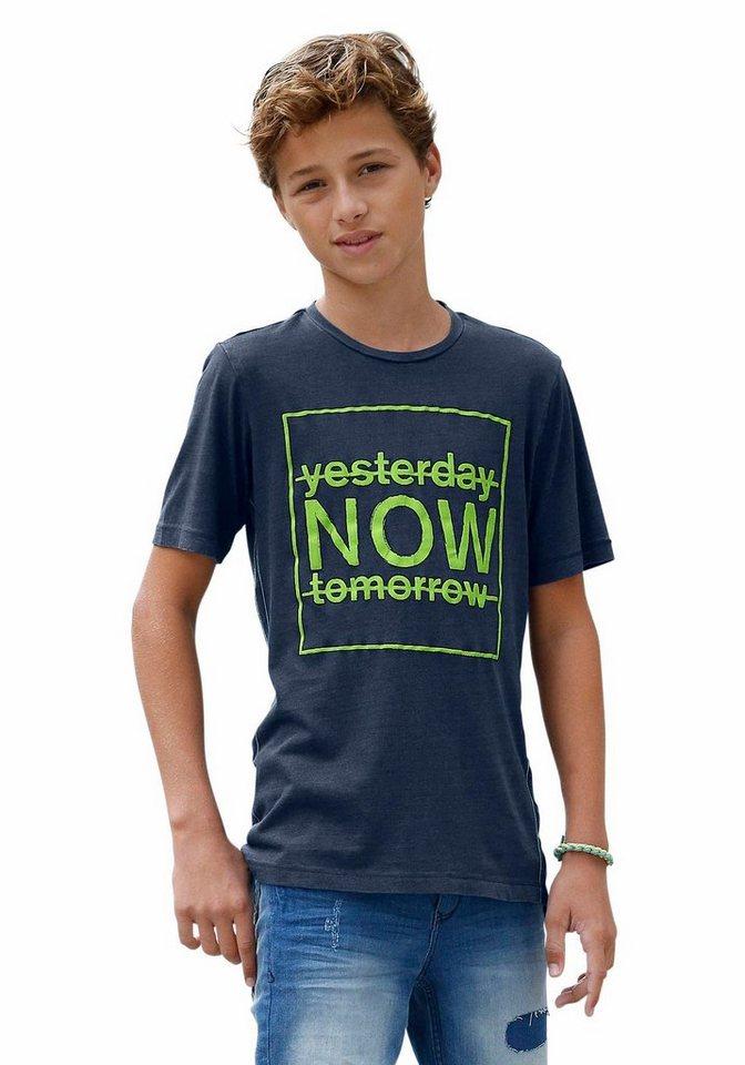 s.Oliver RED LABEL Junior T-Shirt mit Druck in blau