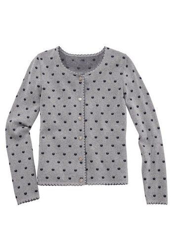 Damen Berwin & Wolff Trachtenstrickjacke Damen mit Metallknöpfen grau | 04250047638865