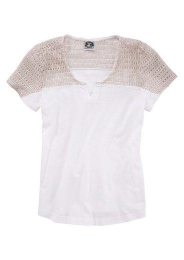 Hammerschmid Trachtenshirt Damen mit Netzeinsatz