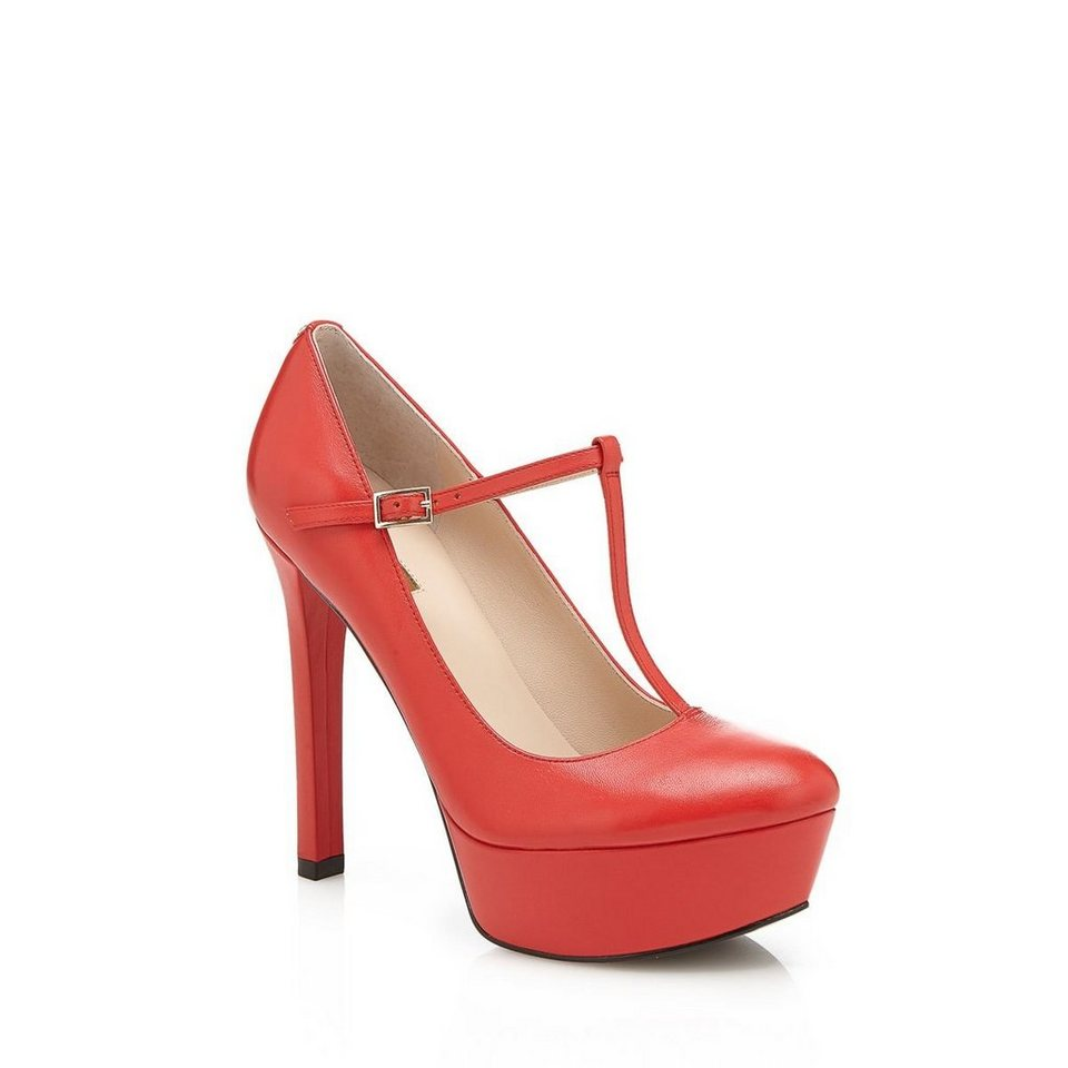 Guess PUMPS EASTER AUS LEDER in Rot
