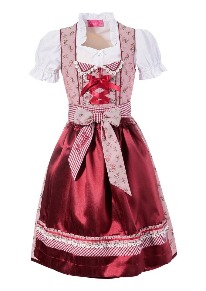 kr ger madl dirndl 3tlg kinder mit floralem muster online. Black Bedroom Furniture Sets. Home Design Ideas