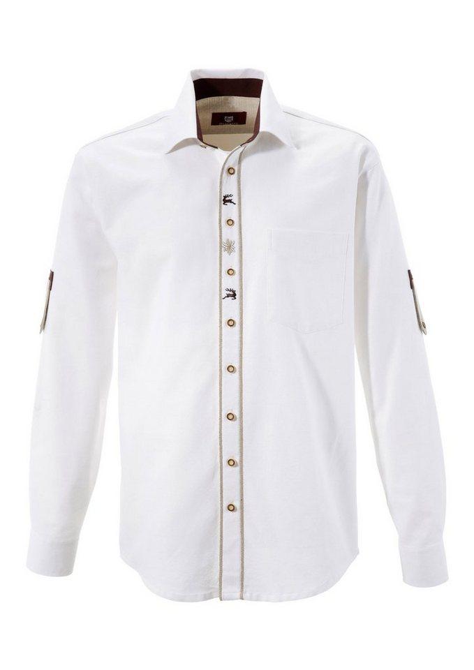 OS-Trachten Trachtenhemd im Landhausstil | Bekleidung > Hemden > Trachtenhemden | Weiß | OS-Trachten