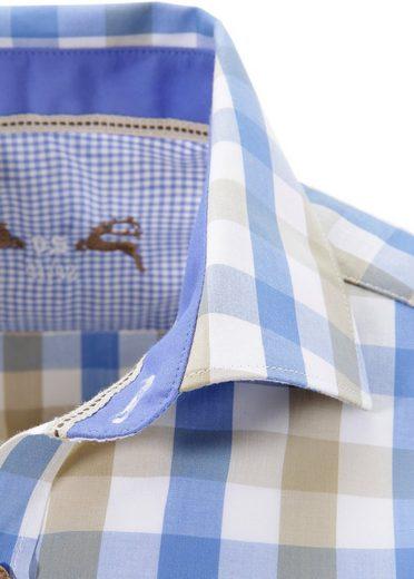 OS-Trachten Trachtenhemd mit Hirsch-Druck