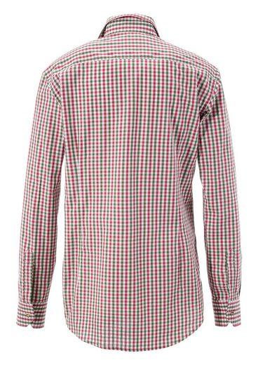 OS-Trachten Trachtenhemd mit Kontrastmanschetten