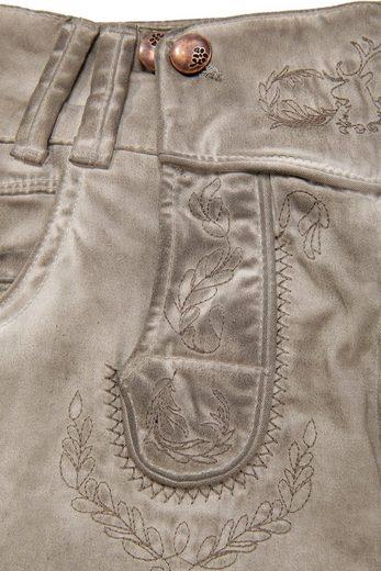 Hangowear Trachtenhose 3/4 Damen mit besticktem Latz