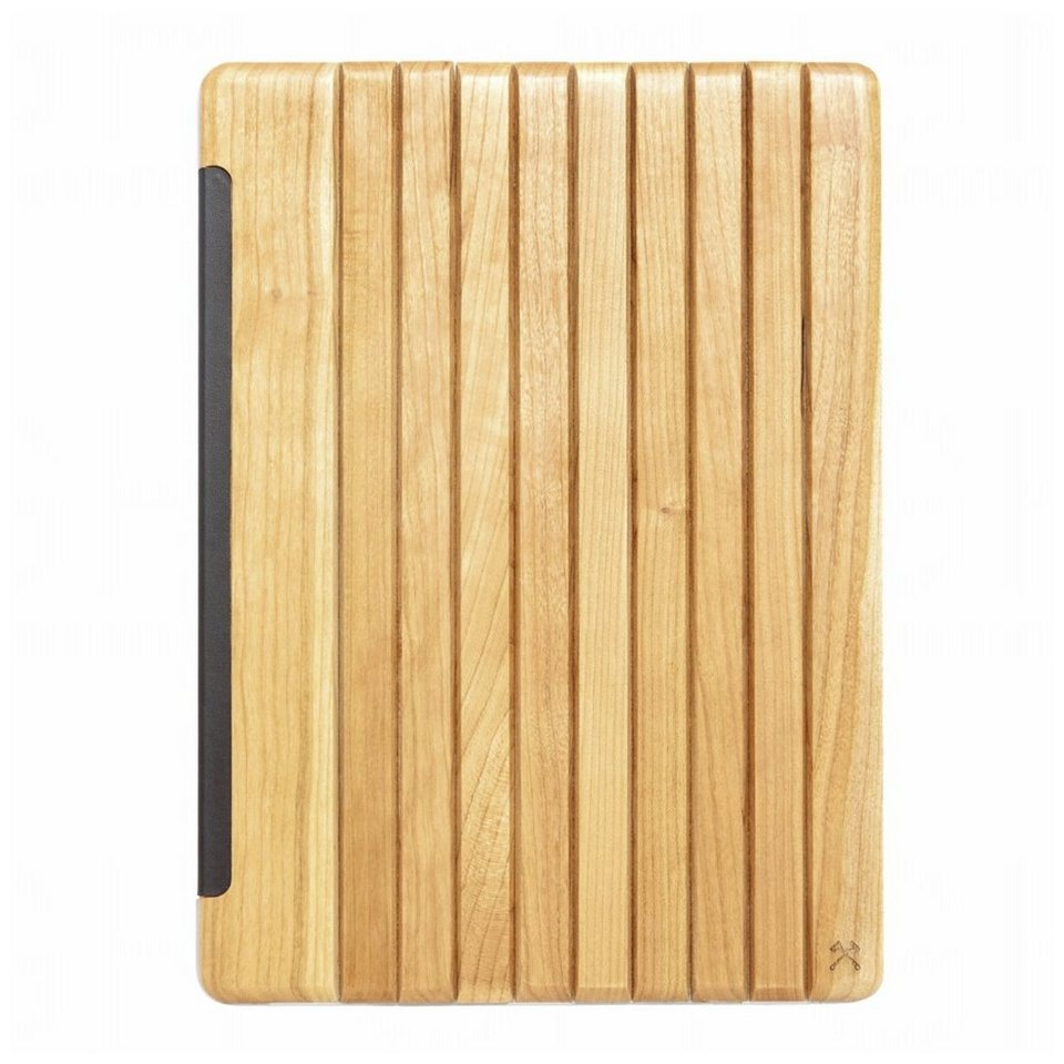 """Woodcessories EcoGuard - Echtholz Case für iPad Pro 12,9""""- Tackleberry in Silber"""
