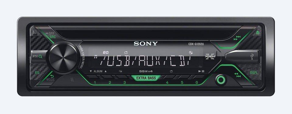 Sony 1-DIN CD-Receiver »CDX-G1202U« in schwarz