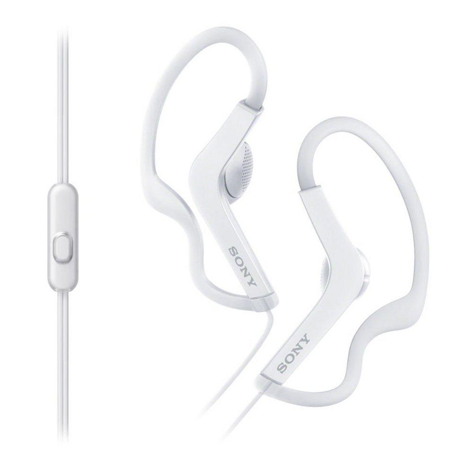 Sony Sport-Kopfhörer (Spritzwassergeschützt, integriertes Mikrofon) »MDR-AS210AP« in weiss